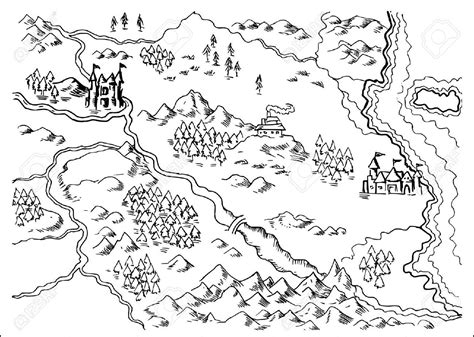 draw a map mountains maps sketch szukaj w sketchnoting