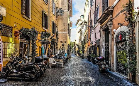 street  trastevere rome italy hd wallpaper