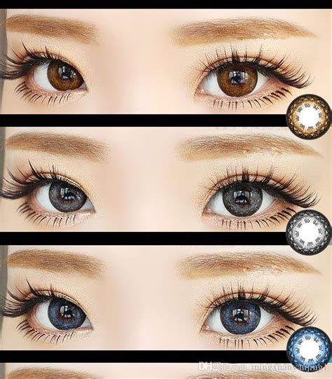 cosmetic color contacts colorful cosmetic contact lenses eye color yearly use 14