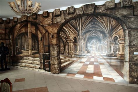 medieval theme mural 00 jpg 1350 215 900 omg this is