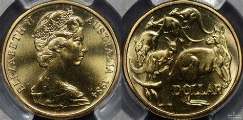 one australia australian 1 dollar 1 coins 1984 to 1990 issues and
