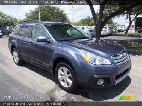 twilight blue subaru outback twilight blue metallic 2014 subaru outback 2 5i limited