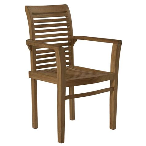 Teak Armchair by Milan Luxury Teak Stacking Armchair Decofurn Factory Shop
