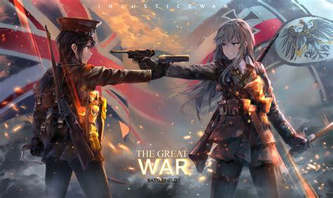 wallpaper engine the great war neko yanshoujie anime anime girls battlefield