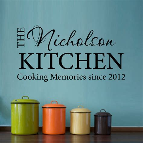 Cooking Measurements Wall Decal Cooking Memories Wall Decal Kitchen Name Decal Date Decal