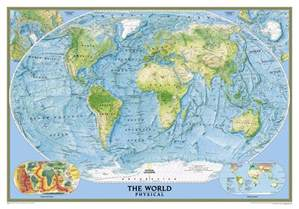 geography map of national geographic united states world physical map