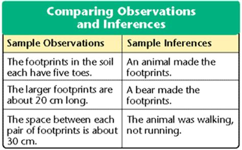 exle of inference prentice biology