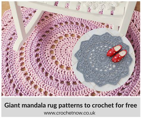 crochet rug patterns crochet mandala rugs crochet now