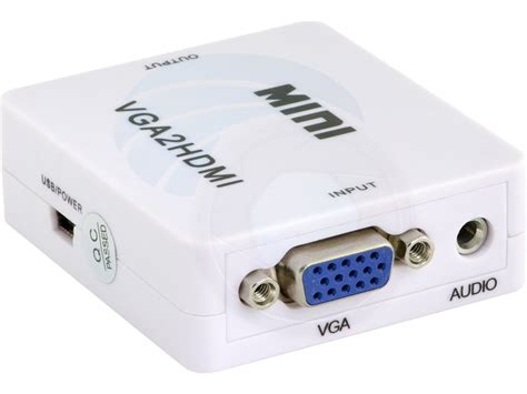 Hd 1080p Hdmi To Vga And Audio Adapter For Promo hd 1080p usb mini vga audio to hdmi vga2hdmi