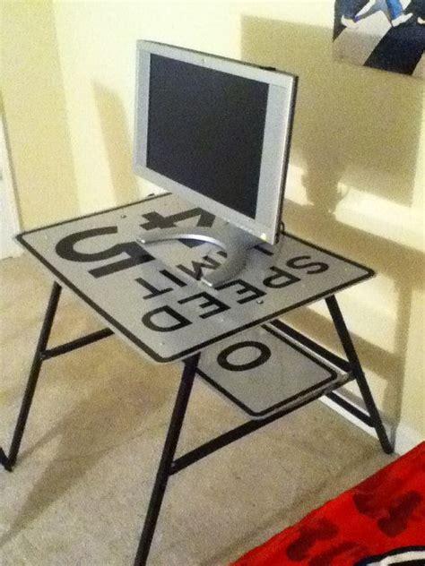 Repurposed Computer Desk Re Purposed Sign Computer Desk