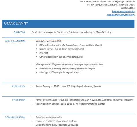 Cv Lamaran Kerja Docx by Cara Buat Resume Untuk Melamar Kerja Dengan Ms