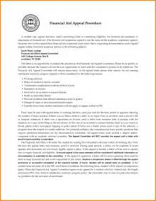 Exle Financial Aid Appeal Letter For Reasons 7 Letter Of Appeal For Financial Aid Quote Templates