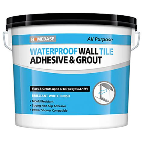 bathroom tile adhesive and grout homebase waterproof wall tile adhesive grout large 6 9kg