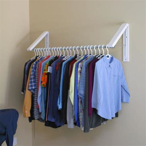 Laundry Room Shelf With Hanging Rod - quikcloset clothes storage solution in closet rods and brackets