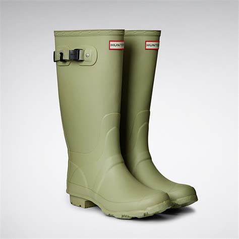 boots green lyst huntress boots in green