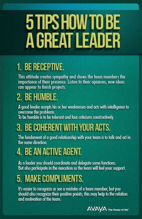 5 tips how to be a great leader the leadership hub