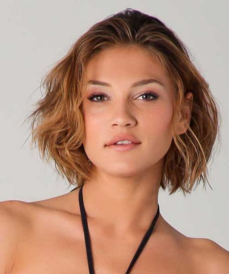 hairstyles for thick wavy hair round face short hairstyles for round faces and thick hair