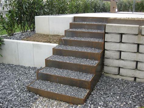 Treppe Im Garten Mit Kies Und Cortenstahl Pictures To Pin On Pinterest