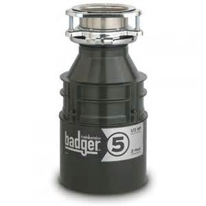 L Disposal by Insinkerator Premier Badger Quot 5 Quot 1 2 Hp Garbage Disposal
