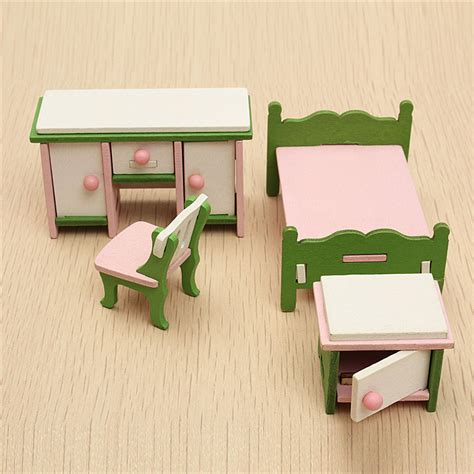 Furniture For Families by Dollhouse Miniature Bedroom Kit Wooden Furniture Set