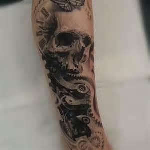 clock tattoo skull tattoos on instagram