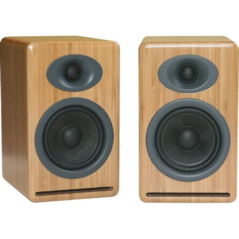 audioengine p4 2 way passive bookshelf speakers ap4n b h photo
