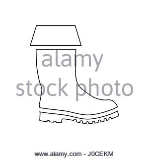 rubber boot icon rubber boot icon outline style stock vector art