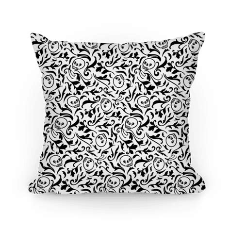 filigree pattern png filigree flowers and skulls pattern throw pillow lookhuman