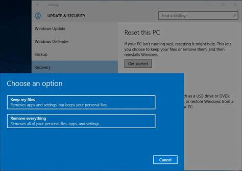 three ways that factory reset laptop in windows 10 8 7