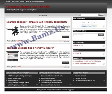 download template blogger seo friendly b seo v1 dunia