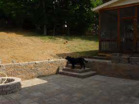 building a patio on a sloped yard question about re landscaping my backyard building a