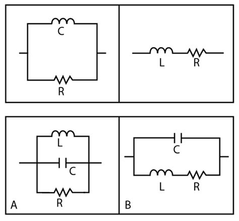 a capacitor and two inductors are placed in parallel table 1