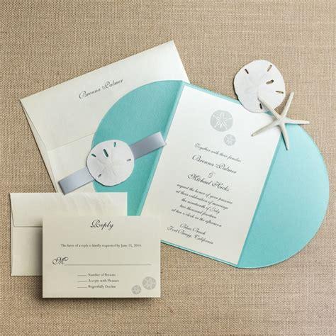 Sand Wedding Invitations sand dollar wedding invitations chic shab