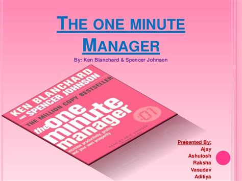 the one minute manager the one minute manager book review by ajay shrivastava