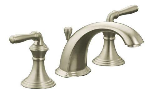Devonshire Faucet Brushed Nickel by Kohler K 394 4 Bn Devonshire Widespread Lavatory Faucet