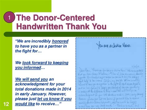 Handwritten Thank You Note For Donation Creative Thank Yous Boost Donations With An Attitude Of Gratitude