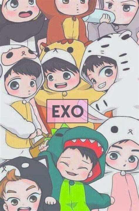 exo cartoon iphone wallpaper 17 best images about exo on pinterest chibi suho and
