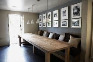 Dining Room Table With Bench Against Wall Home In Gallery Walls Or Wall Collages Kitchen Tables In And Tables