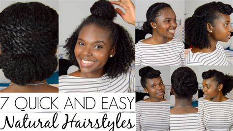 easy and quick hairstyles for natural hair 7 quick and easy hairstyles for natural hair youtube