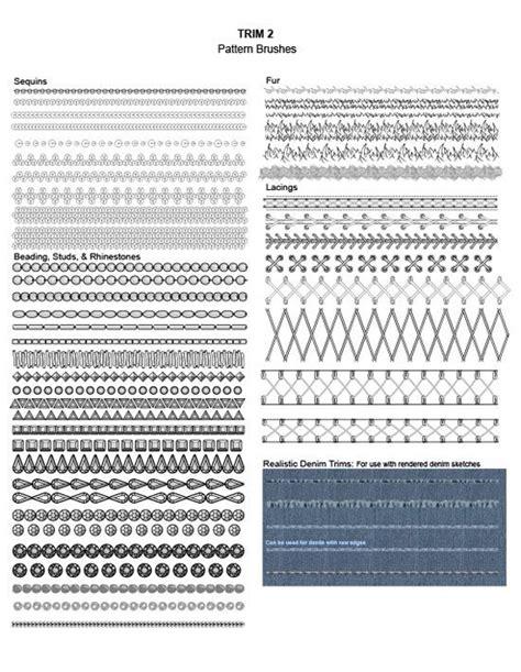 pattern drafting adobe illustrator adobe illustrator fashion brushes trim brushes sequin