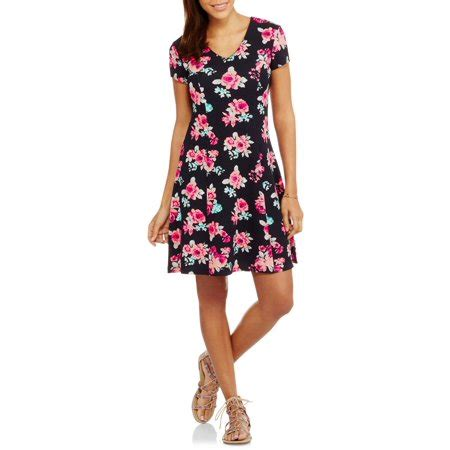 no boundaries juniors fit flare skater dress w lace
