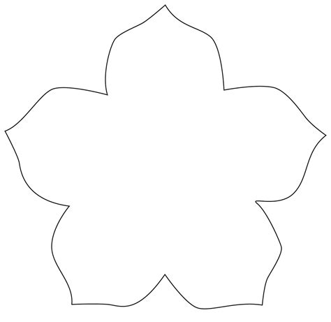 template for shapes flower cut out templates clipart best