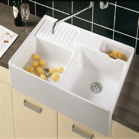 villeroy and boch kitchen sinks villeroy and boch butler 90 double bowl ceramic kitchen sink