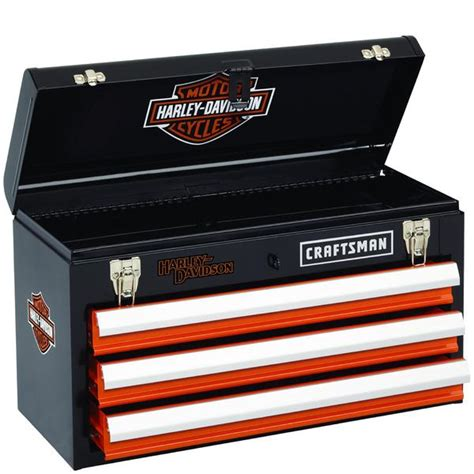 Craftsman 3 Drawer Toolbox by Craftsman Harley Davidson Tool Box Chest 3 Drawer Toolbox