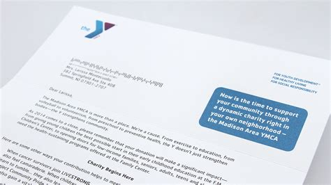charity direct mail letter ymca annual appeal mail caign trillion creative