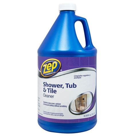 Grout Cleaning Products Zep 1 Gal Shower Tub And Tile Cleaner Zustt128 The Home Depot