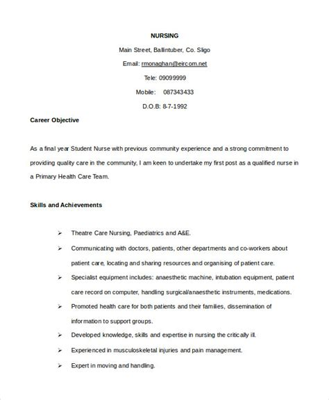 Telemetry Charge Resume by How To Write Nursing Cv For