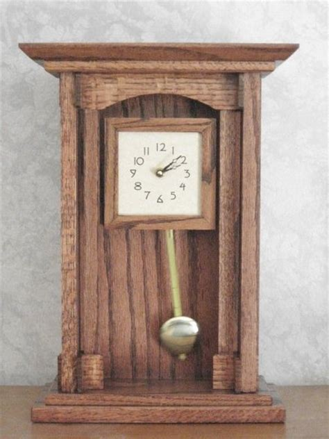 Mission Style Mantle Clock By Renaissance Guy