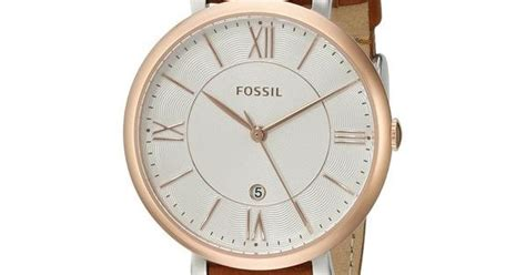 Fossil Es3842 fossil s es3842 jacqueline brown leather by fossil brown leather fossils and brown