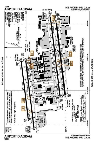 Los Angeles Airport Diagram file lax airport diagram pdf wikimedia commons